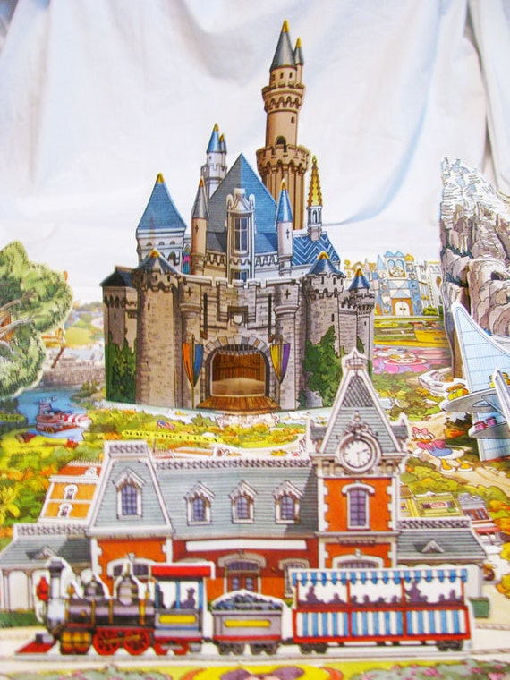 Reserved for Paulette Disneyland 35th Anniversary Pop Up 3-D Map Still Sealed in Original Packaging