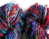 Recycled Sari Silk Yarn Multicolored
