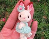 Mini Rabbit - 2.75 inches amigurumi crochet doll - READY to SHIP