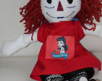 Made to order Roller Derby Raggedy Ann style doll