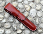 Leather Vegetable dyed single Pen Case