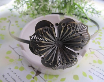 4pcs antique bronze  Headbands / hairbands with a filigree wrap base