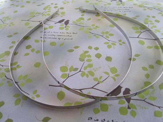 10 Pcs plated siver metal Headbands Bent Ends 5mm