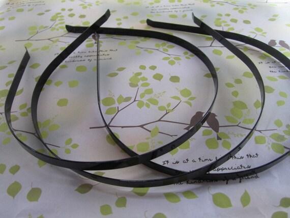 20 Pcs 5mm black color metal Headbands