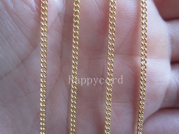 Sale 16ft Gold plated  necklace chain 1mmx2mm  R035