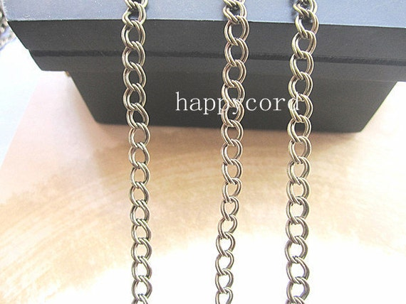 16ft  Antique bronze   necklace chain 4mmx5mm  RR010
