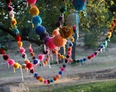 10 POM POM GARLANDs Choose your color req36857
