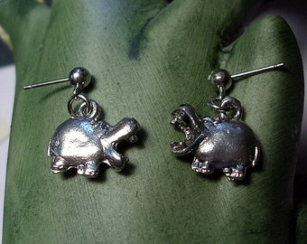 Laughing Hippo Earrings