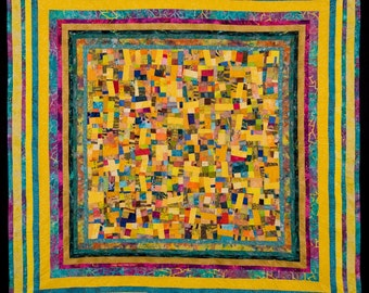 SUN DAY: A Fine Art Quilt in Yellows