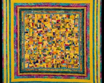 Fine Art Quilt in Yellows