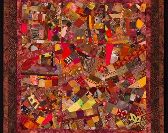 FALLING: Autumn Colors Art Quilt/FREE SHIPPING