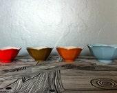 Vintage set of tulip stacking bowls 1970s