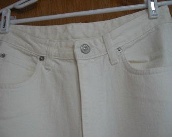 vintage off white Banana Republic jeans size 12