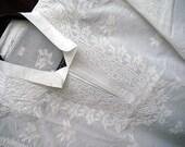 White Cotton Handmade Mens tunic Gifts For Dad man kurta shirt Viking gypsy clothing hippie boho ethnic tribal folk shirt in plus size sale