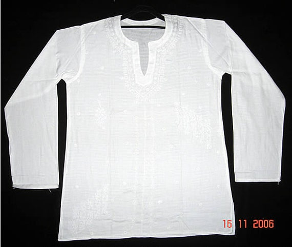 Items similar to Plus size clothing for Mens White cotton shirt ...