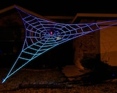25 ft GIANT GlowWeb - Halloween House Prop - SpiderWebMan