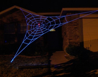 20 ft Almost GIANT GlowWeb - Halloween House Prop - (Requires a Black Light to make it Glow)