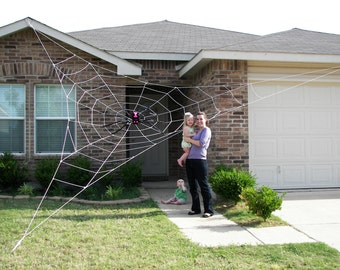 25 ft giant spider web halloween house prop