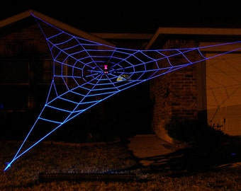 25 ft GIANT GlowWeb - Halloween House Prop - (Requires a Black Light to make it Glow)