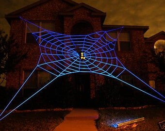 33 ft ULTRA GlowWeb - Giant Halloween Spider Web House Prop