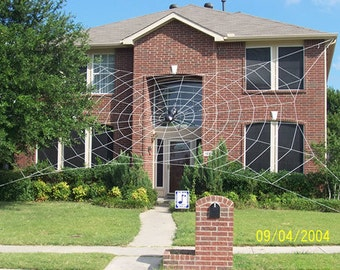 50 ft MEGA Web - Giant Halloween Spider Web House Prop