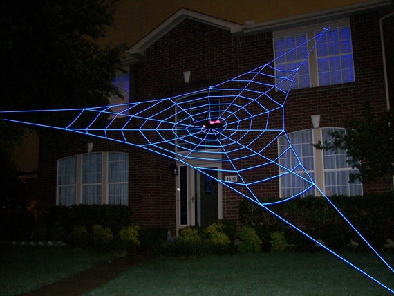 30 ft bermuda glowweb giant halloween spider web prop. Black Bedroom Furniture Sets. Home Design Ideas