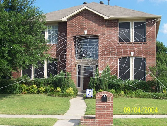 50 ft MEGA Web Giant Halloween Spider Web House by SpiderWebMan
