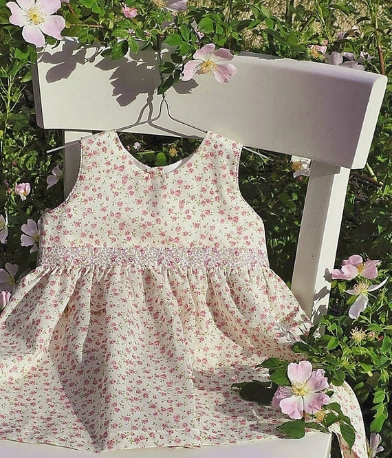 Cotton BABY DRESS - 12 months - LIBERTY of London Nina and Eloise tana lawn