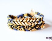 TINNLILY Silk Chain and Hex Nut Double Wrap Bracelet