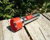 Vintage Silver and Red Eveready Flashlight