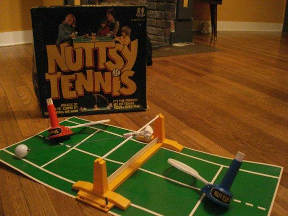 SALE: Vintage Nuttsy Tennis Game