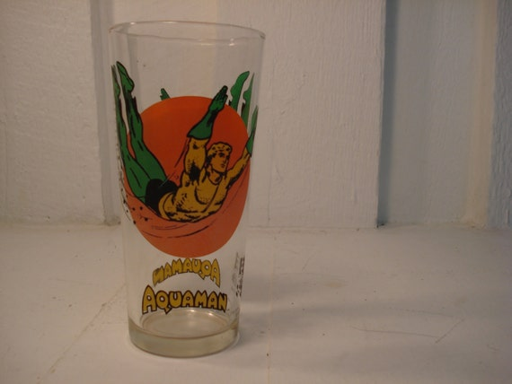 Vintage Aquaman Glass