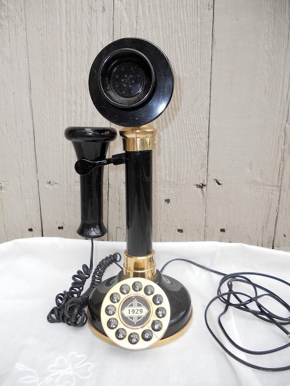Candlestick Telephone Black Vintage Style1929 Replica