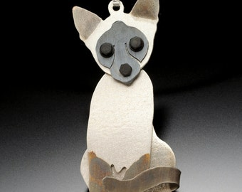 Siamese Cat Jewelry - Siamese Cat Pendant - by Anita Edwards