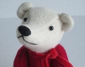 Teddy Bear Red & Eggshell Wool 7 inch Valentino