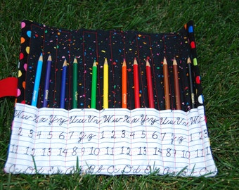 Childs Pencil Color organizer & carrying case