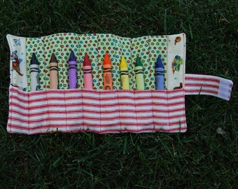 Childs Crayon Color organizer & carrying case