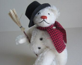 "Snow Bear Mohair Artist ""Winston Windchill"" 8 Inch Jointed"