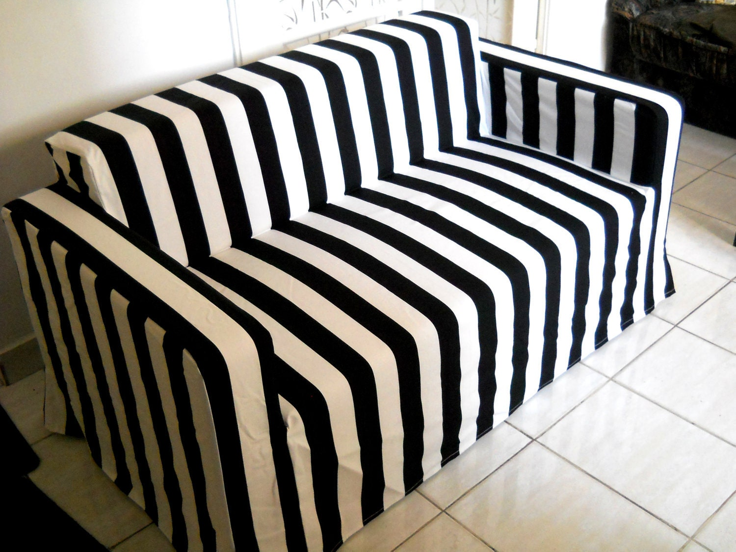 Custom Made Cover For Klobo Sofa From IKEA Wide Stripe