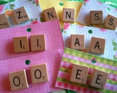 Scrabble Tile Earrings A, B, C, D, E, F, G, H, I, J, K, L, M, N, O, P, Q, R, S, T, U, V, W, X, Y, Z