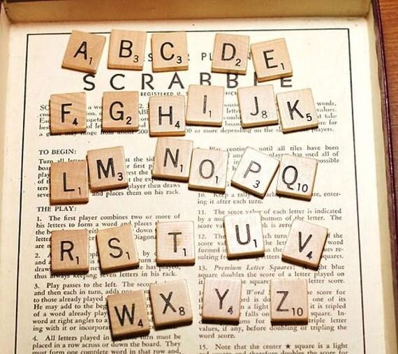 Individual Scrabble Tiles Letters