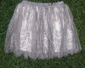 Lilac Silk and Lace Skirt