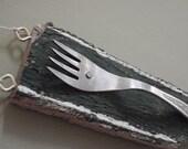 SALE -20% Towel Hanger with Vintage Fork