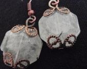 CUSTOM ORDER, Mint Green Gemstone Earrings