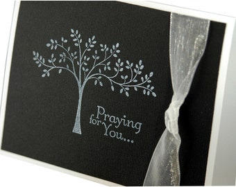 Sympathy card, Praying for You, thinking of you card, get well soon card, handmade