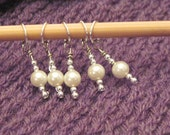 Pearly Stitch Markers (set of 5)
