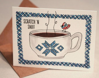 Scratch 'n Sniff Holiday Cards : HOT CHOCOLATE Pack of 8