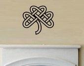 vinyl Wall Decal Celtic knot clover st patricks