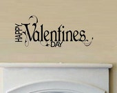 wall decal quote - Happy valentines day
