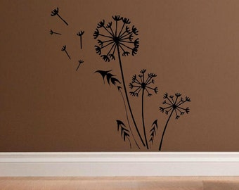 wall decal Dandelion in breeze abstract distressed